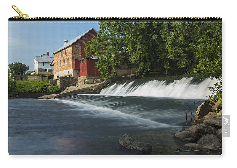 Grist Carry-all Pouch featuring the photograph Lidtke Mill 1 B by John Brueske