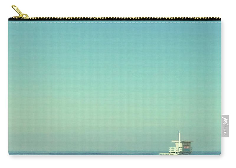 Tranquility Carry-all Pouch featuring the photograph Life Guard Tower by Denise Taylor