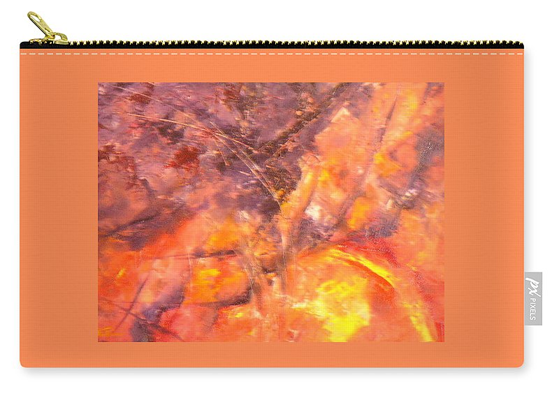 Yellow Carry-all Pouch featuring the painting Life II by Lord Frederick Lyle Morris - Disabled Veteran