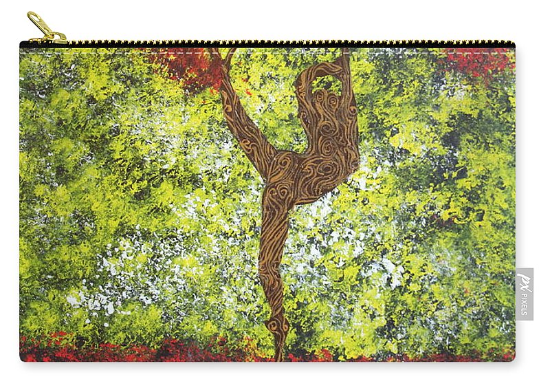 Impressionism Carry-all Pouch featuring the painting Life Is But A Dance by Stefan Duncan