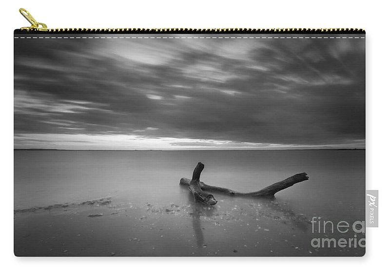 Life Of A Drifter Carry-all Pouch featuring the photograph Life Of A Drifter Bw by Michael Ver Sprill
