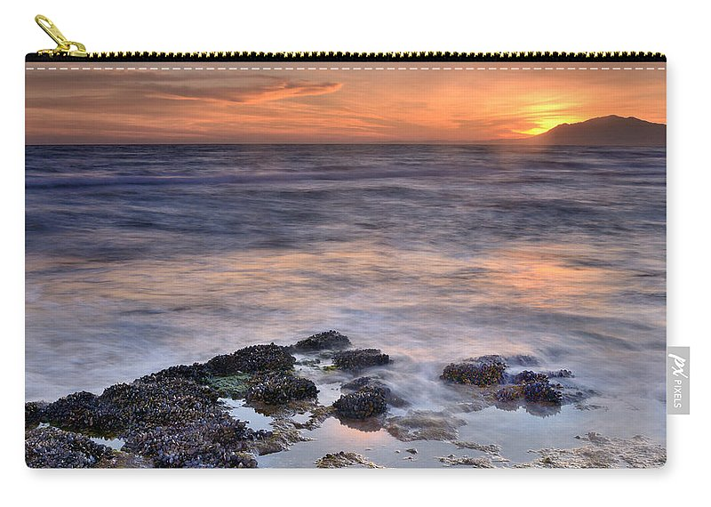 Seascape Carry-all Pouch featuring the photograph Life On The Rocks by Guido Montanes Castillo