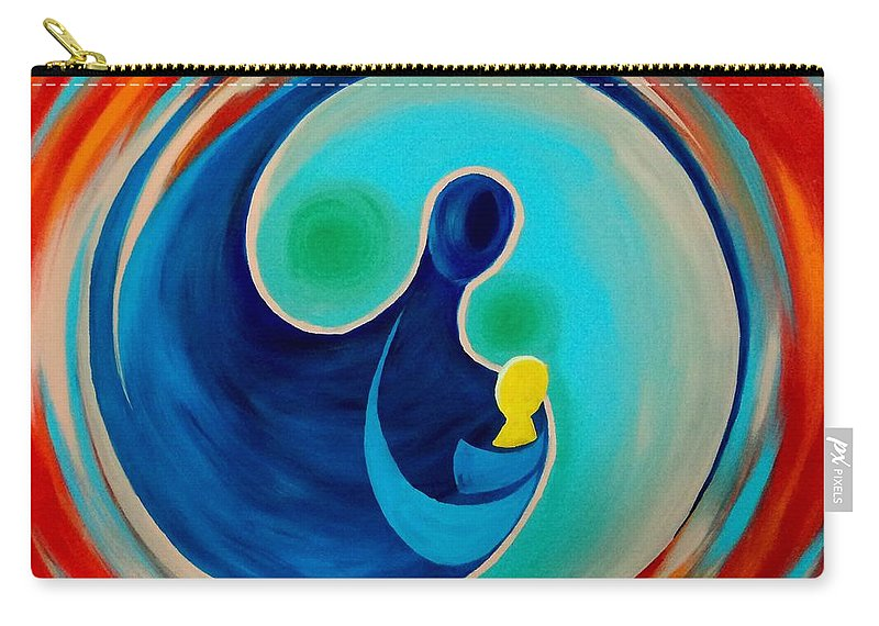 Life Carry-all Pouch featuring the painting Life by Timothy Michaels Flores