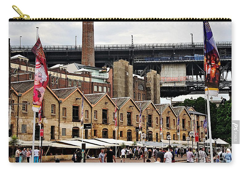 Photography Carry-all Pouch featuring the photograph Life Under The Bridge by Kaye Menner