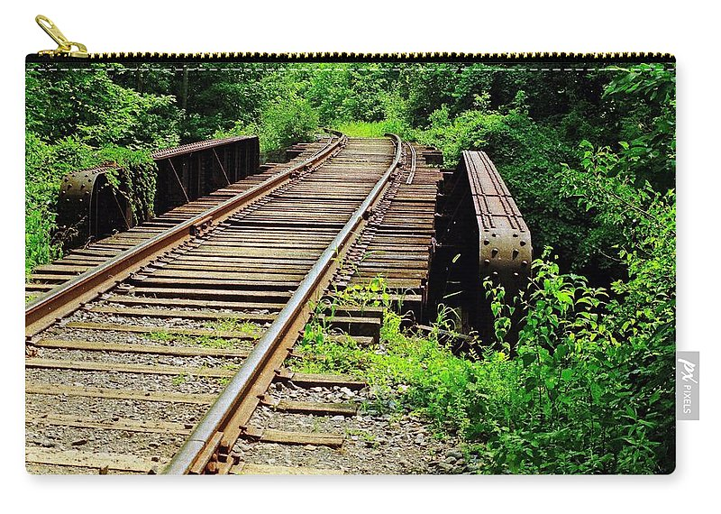 Railroads Carry-all Pouch featuring the photograph Life's Journey by Ira Shander
