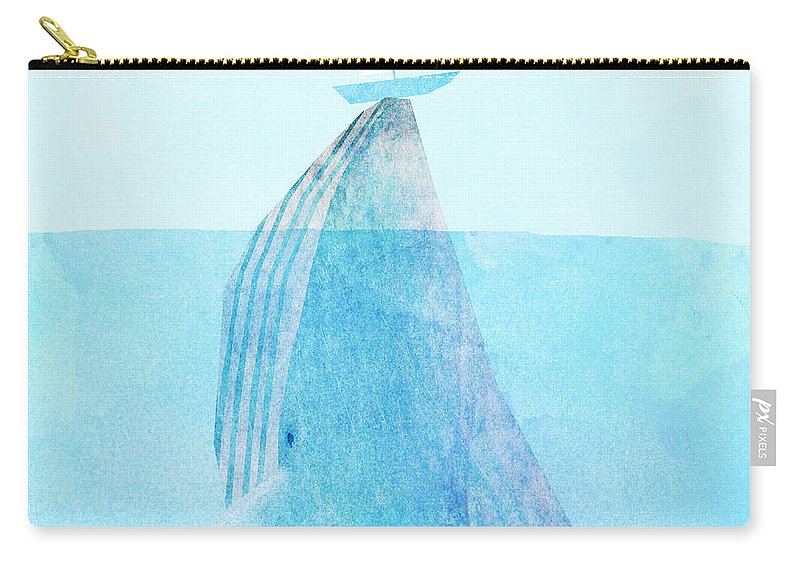 Whale Carry-all Pouch featuring the drawing Lift by Eric Fan
