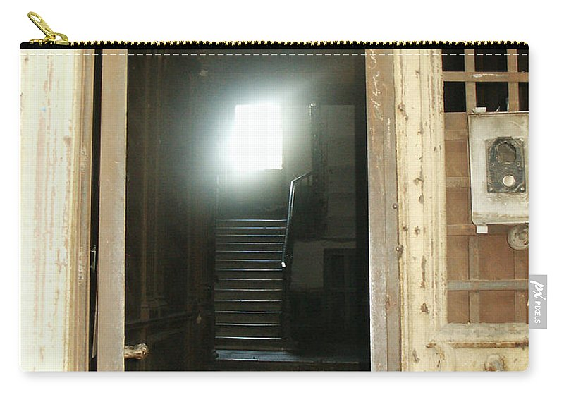 Light Carry-all Pouch featuring the photograph Light At End Of Tunnel by Lali Kacharava