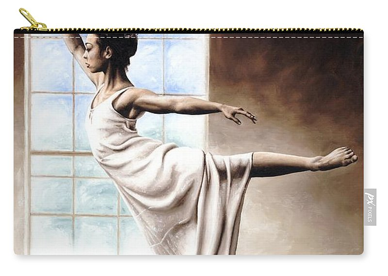 Dance Carry-all Pouch featuring the painting Light Elegance by Richard Young