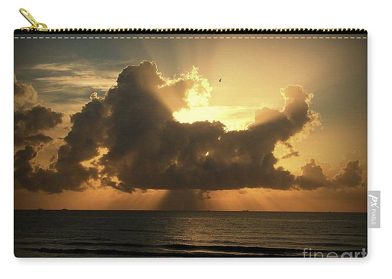 Sunrise Carry-all Pouch featuring the photograph Light Explosion by Reid Callaway