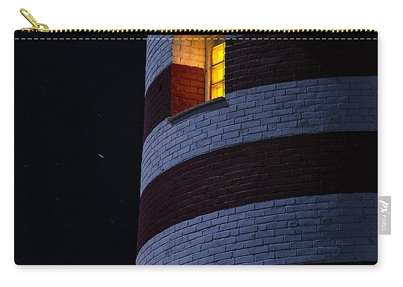Lighthouse Carry-all Pouch featuring the photograph Light From Within by Marty Saccone