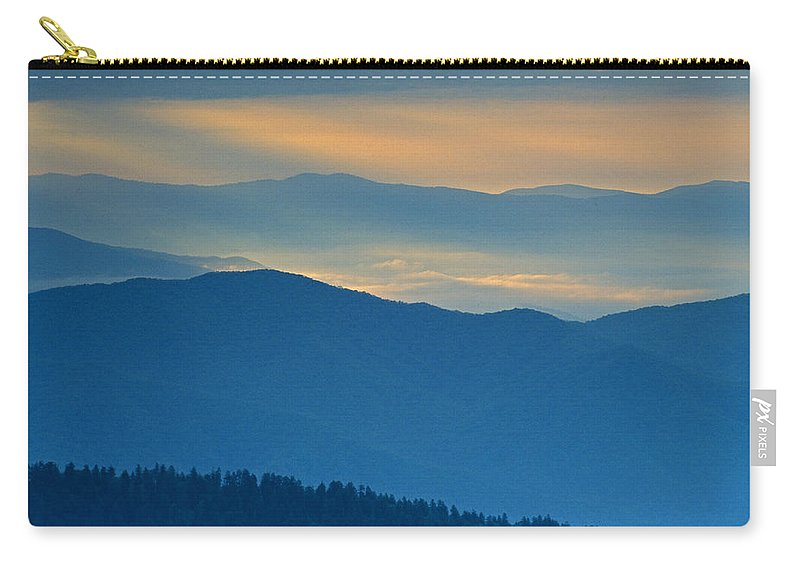 Smokies Carry-all Pouch featuring the photograph Light In The Valley by Eric Albright