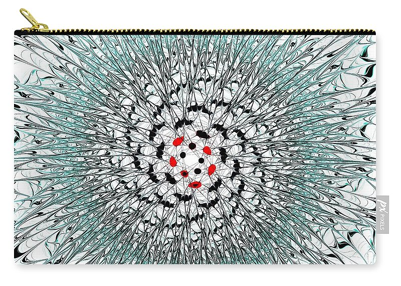 Computer Carry-all Pouch featuring the digital art Light Nexus by Anastasiya Malakhova