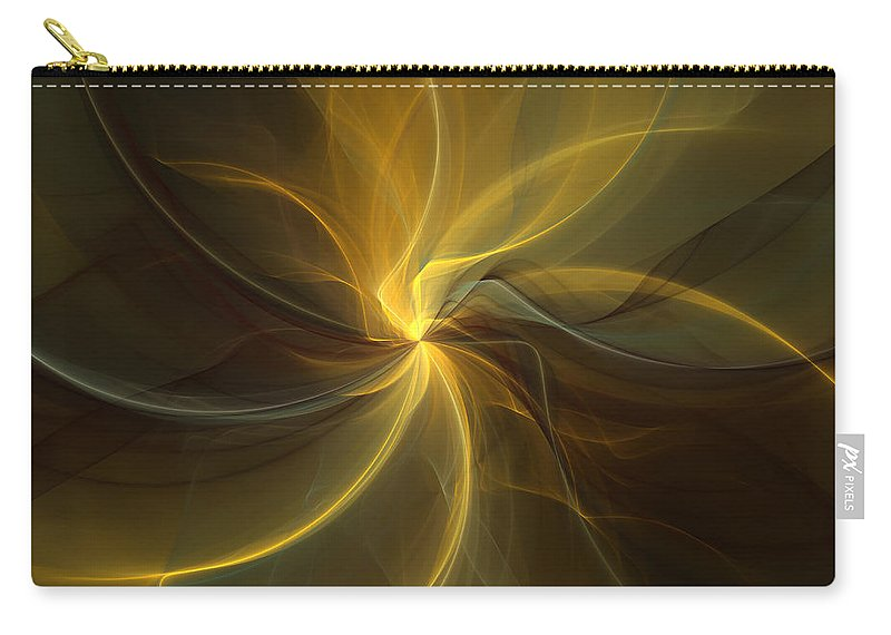 Digital Art Carry-all Pouch featuring the digital art Light Painting by Gabiw Art