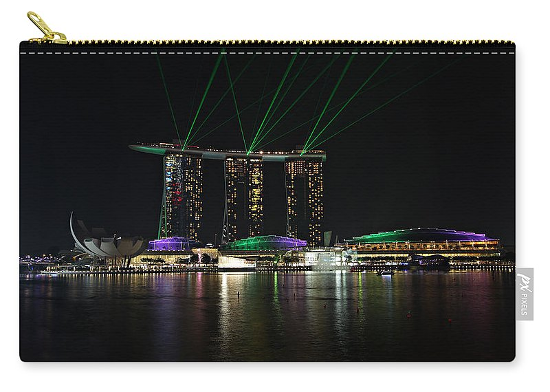 Architecture Carry-all Pouch featuring the photograph Light Show by Paul Fell