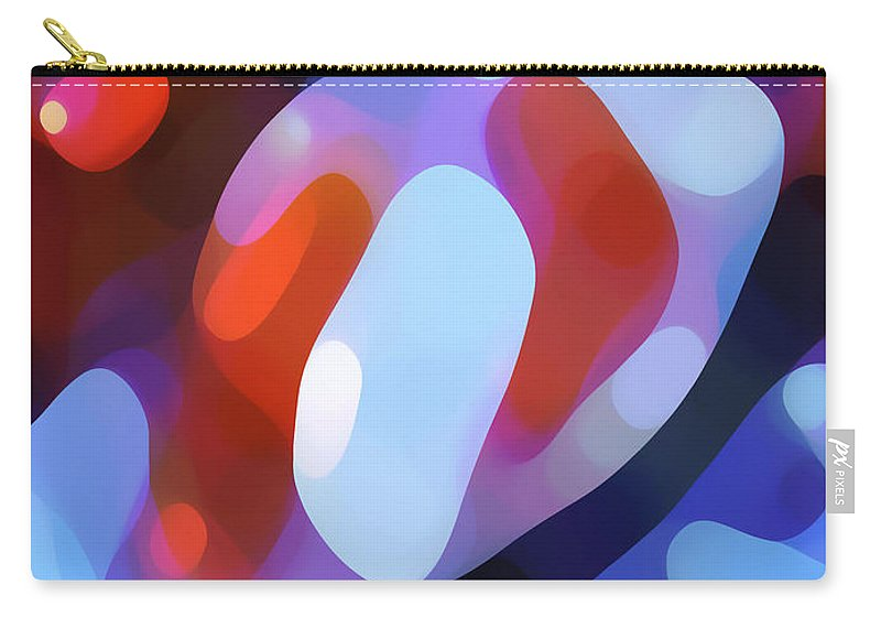Abstract Carry-all Pouch featuring the painting Light Through Fall Leaves by Amy Vangsgard
