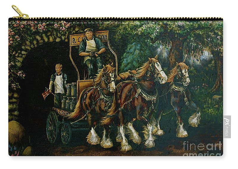 Carry-all Pouch featuring the painting Light Touch by Linda Simon