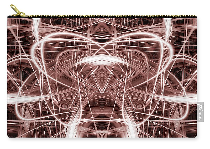 Abstract Carry-all Pouch featuring the digital art Light Trails 8 by Steve Ball