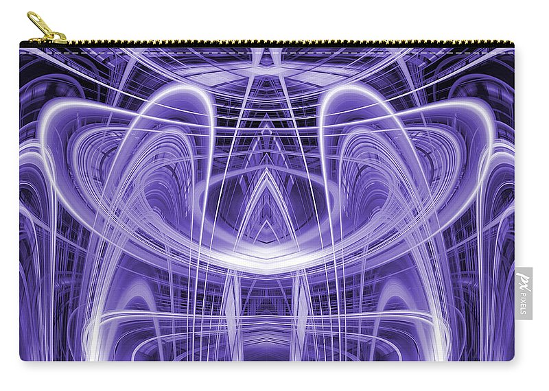 Abstract Carry-all Pouch featuring the digital art Light Trails 9 by Steve Ball