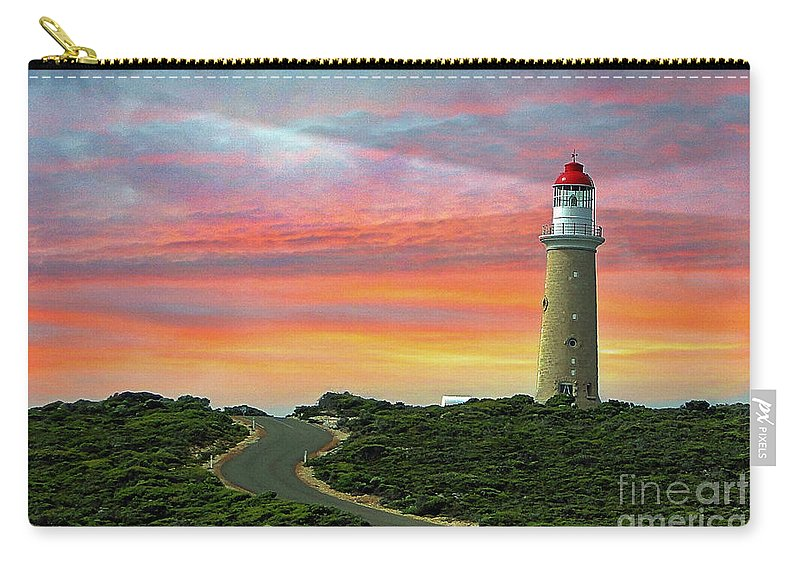 Landscape Carry-all Pouch featuring the photograph Lighthouse 2 by Ben Yassa