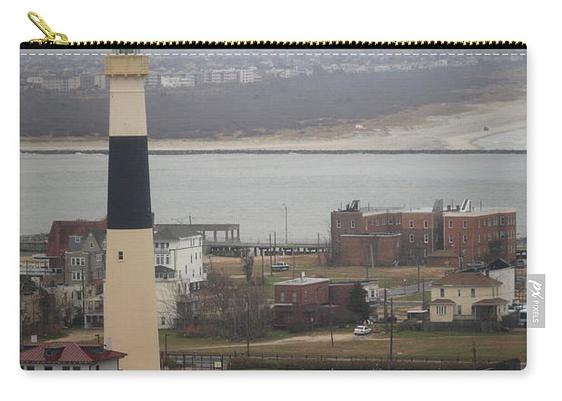 Absecon Carry-all Pouch featuring the photograph Lighthouse - Atlantic City by Frank Romeo