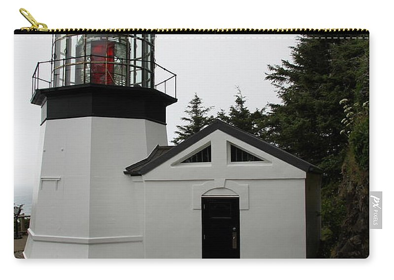 Cape Meares Carry-all Pouch featuring the photograph Lighthouse Cape Meares by Christiane Schulze Art And Photography