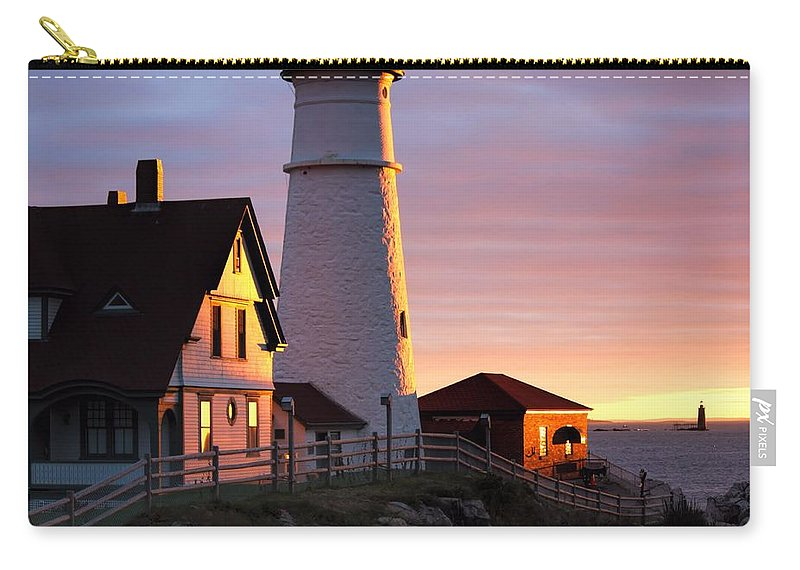 Portland Carry-all Pouch featuring the photograph Lighthouse In The Morning by Jenny Hudson