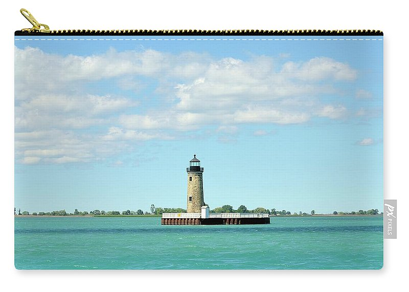 Scenics Carry-all Pouch featuring the photograph Lighthouse Lake St. Clair by Rivernorthphotography