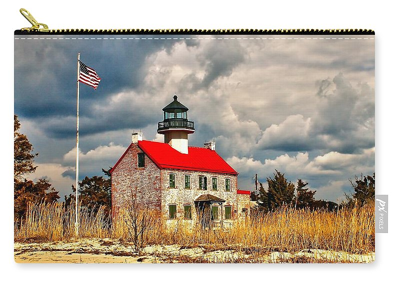Architecture Carry-all Pouch featuring the photograph Lighthouse On The Delaware by Nick Zelinsky