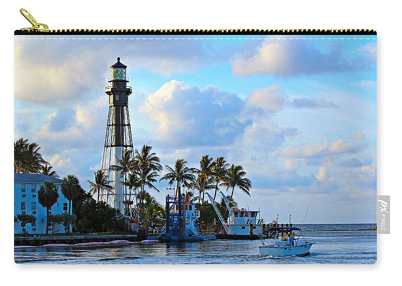 America Carry-all Pouch featuring the photograph Lighthouse Sunrise by Paul Fell