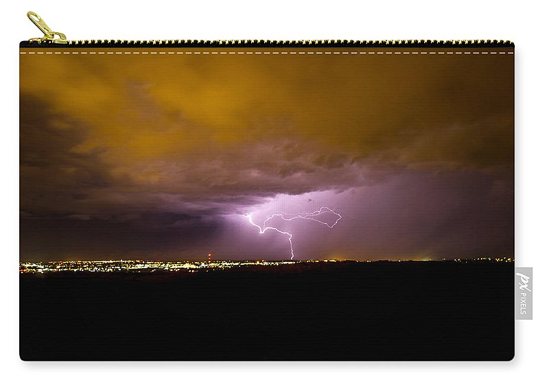 Bolts Carry-all Pouch featuring the photograph Lightning 15 by Jeff Stoddart