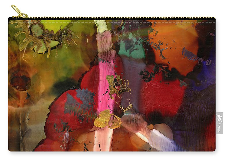 Ink Carry-all Pouch featuring the painting Lightning Angel by Angela L Walker