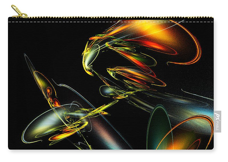 Lightning Bug Carry-all Pouch featuring the digital art Lightning Bug by Klara Acel