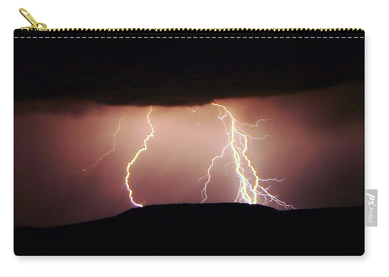 Lightning Carry-all Pouch featuring the photograph Lightning Walking by Jeff Swan