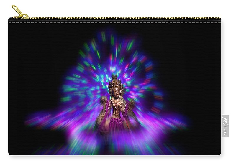 Tara Carry-all Pouch featuring the photograph Lightpainting Tara by Beverly Cash