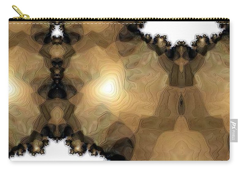 Abstract Carry-all Pouch featuring the digital art Lights 3 by Ron Bissett