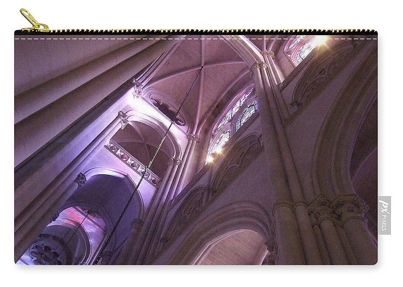Carry-all Pouch featuring the photograph Lights And Shadows by Katerina Naumenko