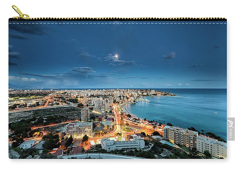 Built Structure Carry-all Pouch featuring the photograph Lights In The City by Photographer Of The World