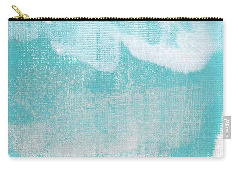 Abstract Carry-all Pouch featuring the painting Like A Prayer- Abstract Painting by Linda Woods