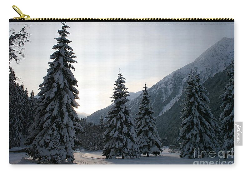 Snow Carry-all Pouch featuring the photograph Like Powdered Sugar by Christiane Schulze Art And Photography