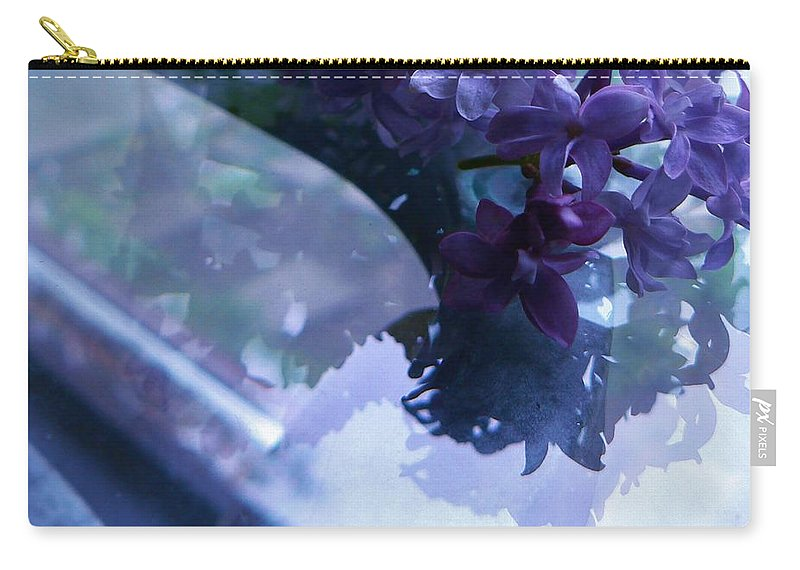 Photograph Carry-all Pouch featuring the photograph Lilac Glass by Barbara St Jean