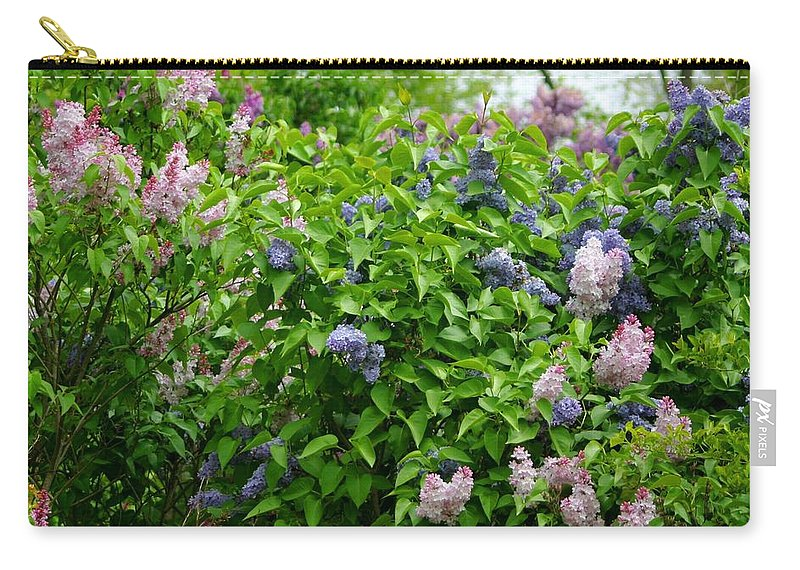 Lilacs Carry-all Pouch featuring the photograph Lilac Heaven by Living Color Photography Lorraine Lynch