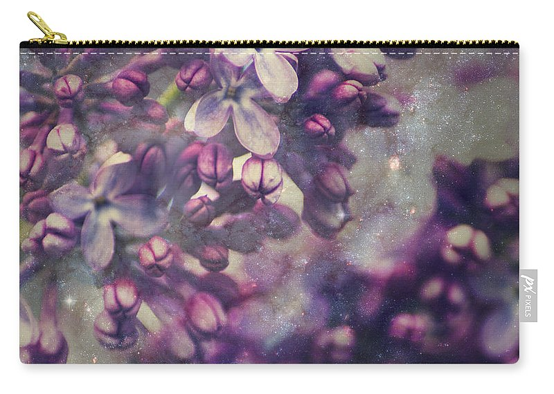 Purple Lilac Carry-all Pouch featuring the photograph Lilac by Yulia Kazansky