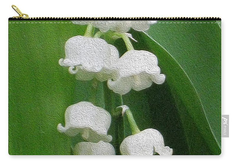 Lily Carry-all Pouch featuring the photograph Lillies Of The Valley Cascade by Nina Silver