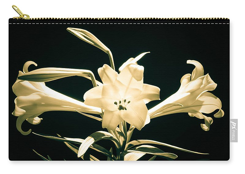 White Carry-all Pouch featuring the photograph Lilly And Light by Bill Pevlor
