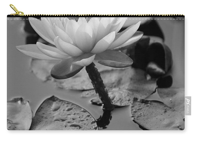 Black And White Carry-all Pouch featuring the photograph Lily Bw by Carolyn Stagger Cokley