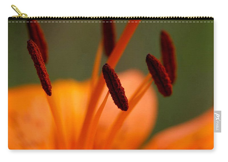 Flower Carry-all Pouch featuring the photograph Lily by Carol Lynch