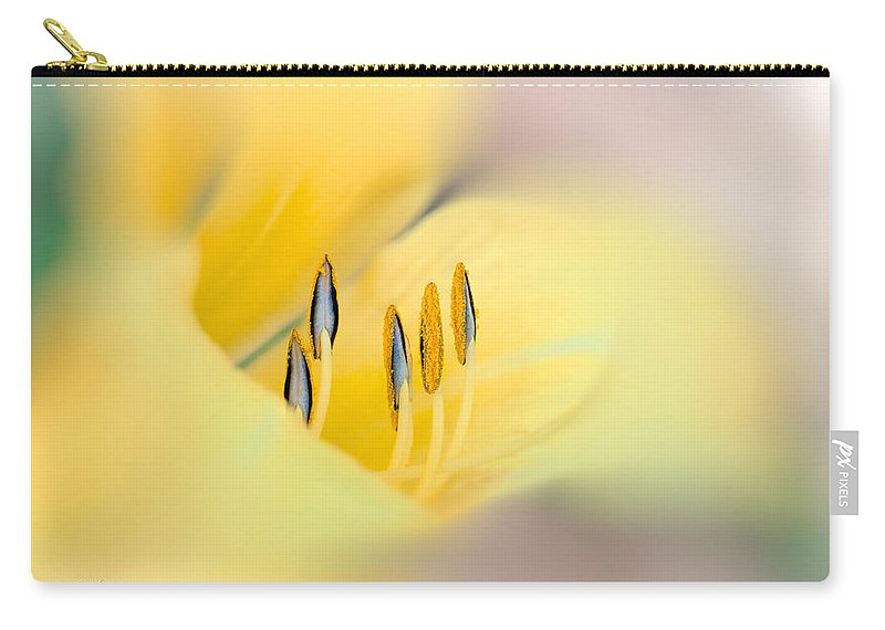 Flower Carry-all Pouch featuring the photograph Lily Impressions by Bob Orsillo