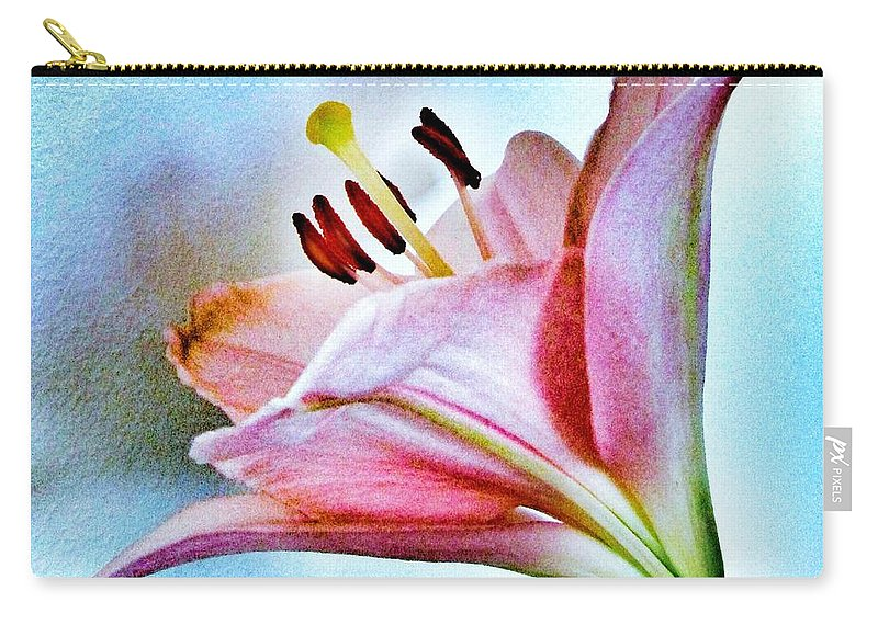 Lily Carry-all Pouch featuring the photograph Lily by Marianna Mills