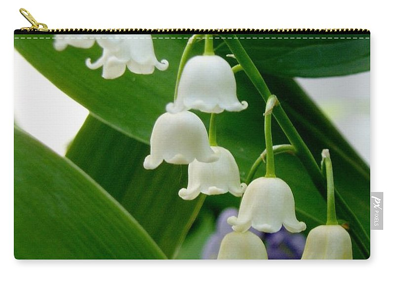 Carry-all Pouch featuring the photograph Lily Of The Valley Green by Renee Croushore