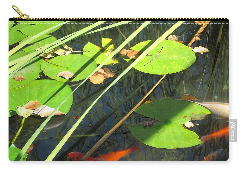 Lily Pads Carry-all Pouch featuring the photograph Lily Pads 2 by Mary Bedy